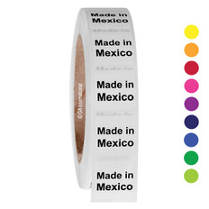 """Made in Mexico""  labels - 25.4 x 25.4mm  #ABA-1023-3"