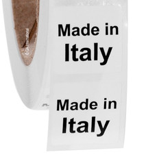 """Made in Italy""  labels - 25.4 x 25.4mm #ABA-1020-3"