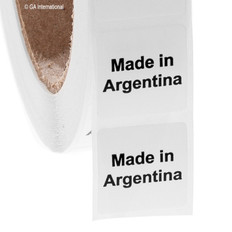 """Made in Argentina"" labels - 25.4 x 25.4mm  #ABA-1003-3"