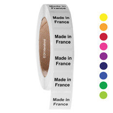 """Made in France"" labels - 25.4 x 25.4mm  #ABA-1014-3"