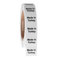 """Made in Turkey""  labels - 25.4 x 25.4mm #ABA-1037-3"