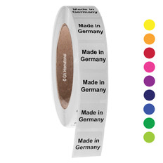 """Made in Germany"" labels - 25.4 x 25.4mm  #ABA-1016-3"