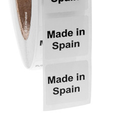"""Made in Spain""  labels - 25.4 x 25.4mm #ABA-1032-3"