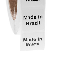 """Made in Brazil"" labels - 25.4 x 25.4mm  #ABA-1005-3"