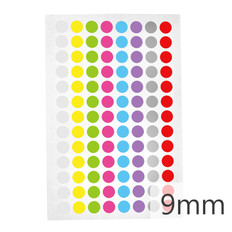 Cryogenic color dots labels - 9mm diameter #LT-9X8A 8 colors across