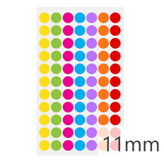 Cryogenic color dots - 11mm diameter  #LT-11X7A 7 colors across