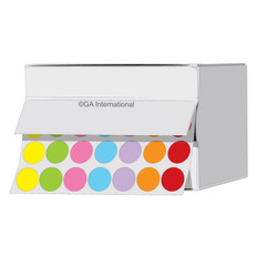 Cryogenic color dots - 11mm diameter #LTR-11X7A colors across