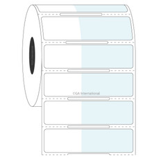 Cryogenic Thermal Transfer Labels for Frozen Vials and Tubes - 25.4 x 15.9 + 35mm wrap  #FIX-312