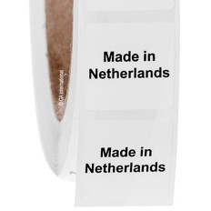 """Made in Netherlands"" labels - 25.4 x 25.4mm  #ABA-1025-3"