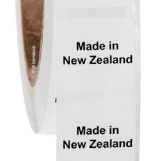 """Made in New Zealand"" labels - 25.4 x 25.4mm  #ABA-1026-3"
