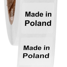 """Made in Poland"" labels - 25.4 x 25.4mm  #ABA-1028-3"