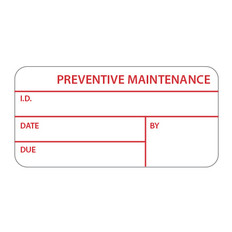 Calibration Labels - 25.4 x 54mm -PREVENTIVE MAINTENANCE-  #CALA-008