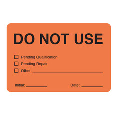 Calibration Labels -DO NOT USE - 50.8mm x 76.2mm  #CALA-006-0.25R
