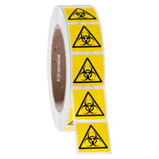BIOHAZARD Symbol Labels - 29 x 29mm #WL-007