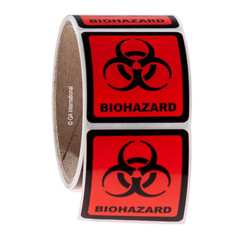 BIOHAZARD Symbol Labels - 50.8 x 50.8mm #WL-006