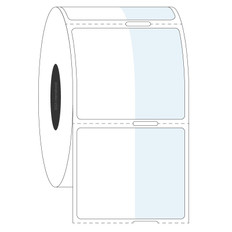 Cover-Up Labels for Frozen Containers - 22.1 x 35 + 19mm #AEA-2 Notch
