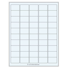 Transparent cryogenic removable laser labels with waste - 38.1mm x 25.4mm #TRCL-70 (100 Sheet/PK)