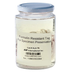 Non-Adhesive Tags Resistant to Formalin - 76mm x 152m #ALA-76C3-500