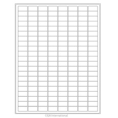 Cryo Inkjet Labels Sheet Format - 24 x 12.7mm #AJA-12