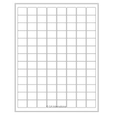 Cryo Inkjet Labels Sheet Format - 23.8 x 19.8mm #AJA-32
