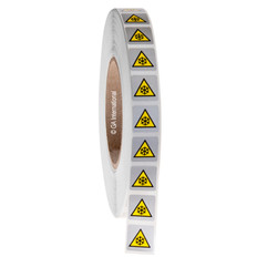 LOWER TEMPERATURE WARNING Symbol Labels - 19 x 19mm #WL-010