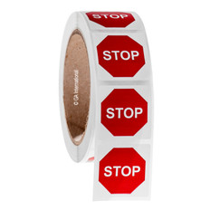 STOP Sign Symbol Labels - 38.1 x 38.1mm #WL-011