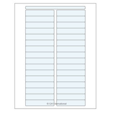 Transparent Cryo & Autoclave Laser Labels - 76.2mm x 15.9mm #DFLT-75