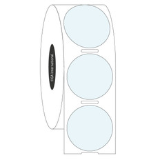 Transparent Cryo Labels - 25.4mm diameter  #HBCL-115