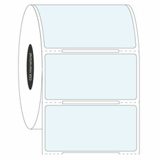 Transparent Cryo Labels - 50.8 x 25.4mm  #HBCL-28 Notch