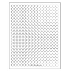 Cryo Inkjet Labels Sheet Format - 11mm circle #AJA-48