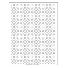 Cryo Inkjet Labels Sheet Format - 9 mm circle #AJA-10