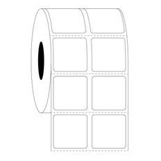 Xylene and solvent resistant labels - 22.2mm x 22.2mm  #HTT-247