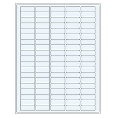 Transparent cryogenic removable laser labels - 36 x 14mm #TRCL-6 (100 Sheet/PK)