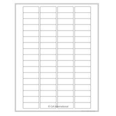 Cryo Inkjet Labels Sheet Format - 41.275 x 15.494mm #AJA-80