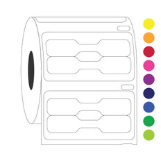 Pricetag Labels for DYMO - 19 x 9.5mm #EF1F-078