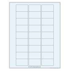 Transparent Removable Cryo Laser Labels (US Letter Size) - 50.8 x 28.6mm #TRCL-63