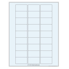 Transparent Cryogenic Removable Laser Labels - 50.8 x 28.6mm #TRCL-63