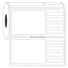 Autoclavable Piggyback Labels - 101.6 x 50.8mm  #PAUTR-2