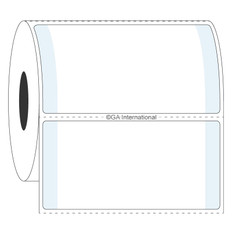 Labels for Frosted Vials and Containers - 63.5 x 38.1mm #L2FS-7