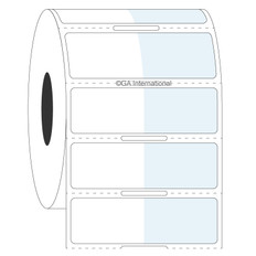 Cryo & Autoclave Resistant Wrap-Around Labels - 25.4mm x 15.9mm + 25.4mm wrap  #CATT-311NOT