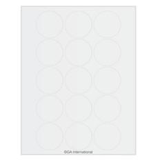 Laser & Inkjet Matte Permanent Paper Labels - 50.8mm Circles  #LZP-86WH