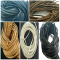 Leather Cord/Thong/Laces Cut To Length Square 3mm x 100cm Shoes/Loafers/Boots