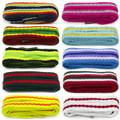Flat Fun Fashion Stripes Shoes/Trainers/Plimsols Laces