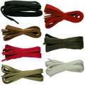 """TZ Laces"" Flat 8mm Strong Waxed Shoe Boot hiking Skate Laces"