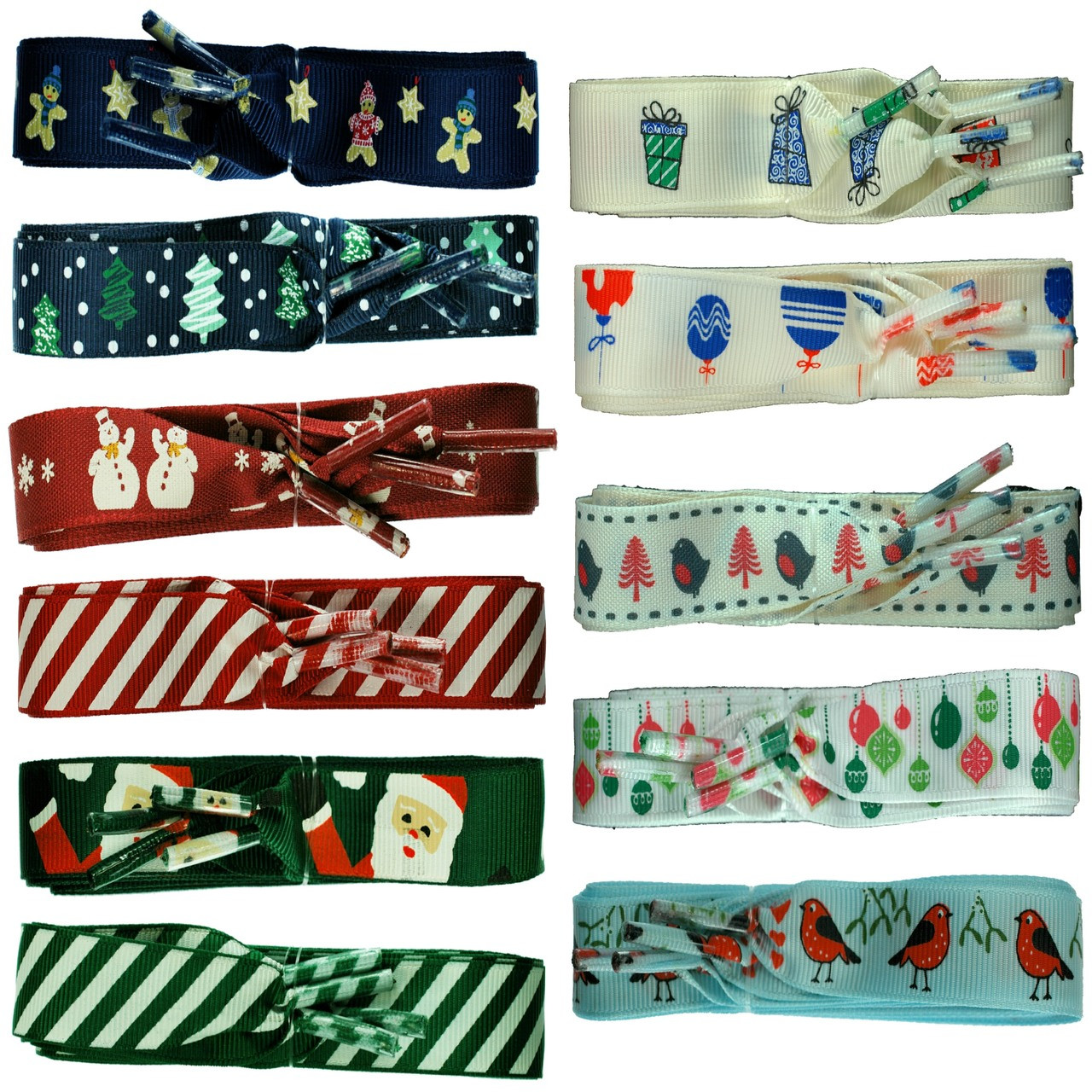 Shoelaces For Christmas.Tz Laces Branded Flat Christmas Ribbon Shoelaces For