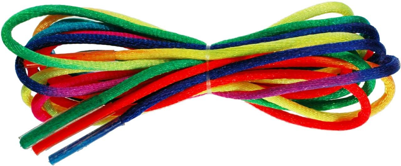 TZ Laces Branded 2.5mm Round Rainbow shoelaces shoes Trainers Dance shoes