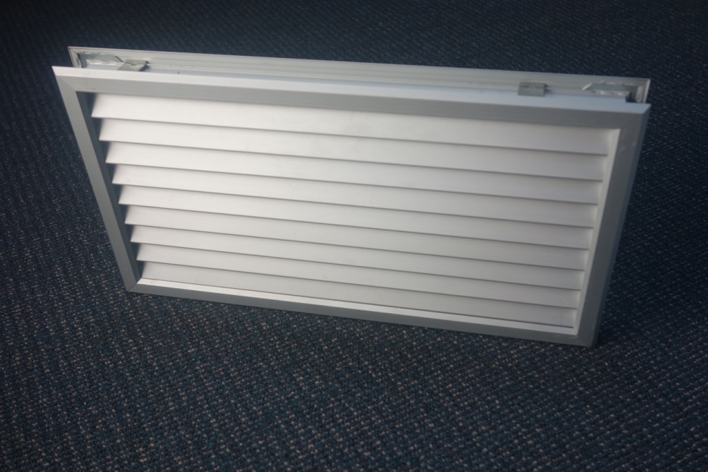 Door Vent Double Sided 600 X 250mm Anodised