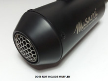 Musarri GP Style Exhaust Tip Insert, fits all Musarri GP Series Exhausts. MUFFLER NOT INCLUDED. Fits in place of the removable Low-Volume insert.