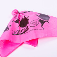 "14"" x 14"" Original Bullshit Flag - Pink- Ladies, we understand that your gender gets more than it's fair fair of BULLSHIT. So we have the perfect flag for you when it's time to call BULLSHIT. This fancy pink bandana will not be obstrusive, tucks neatly in your purse or clutch and is ready in an instant when you need it. While men are the best at shooting the BULL. Ladies are the best at calling it. So for those times when you cannot stand the comments, suggestions, claims, denials, pick up lines or otherwise BULLSHIT coming from a freind, collegue, family member, a celebrity or politician. Now you can express your feelings with this fun, lightweight, attention getter that's says, I have heard enough."