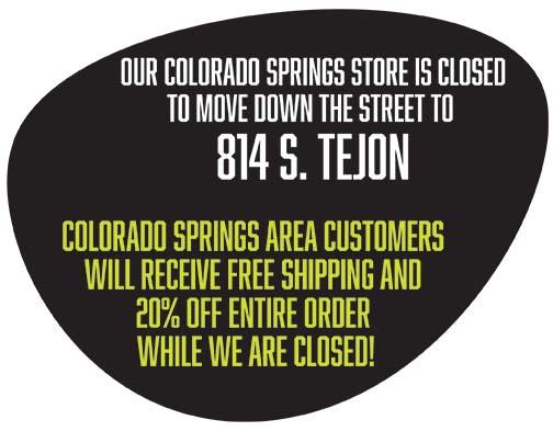 Colorado Springs Store Closed To Move to 814 S Tejon